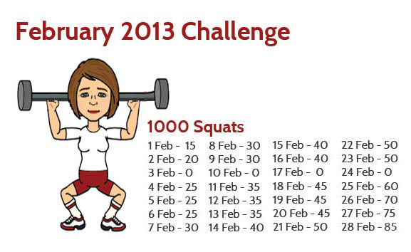 Squat Challenge | click three times